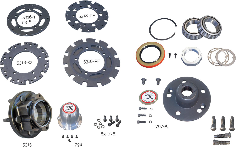 2-Inch Bearing Hub Parts