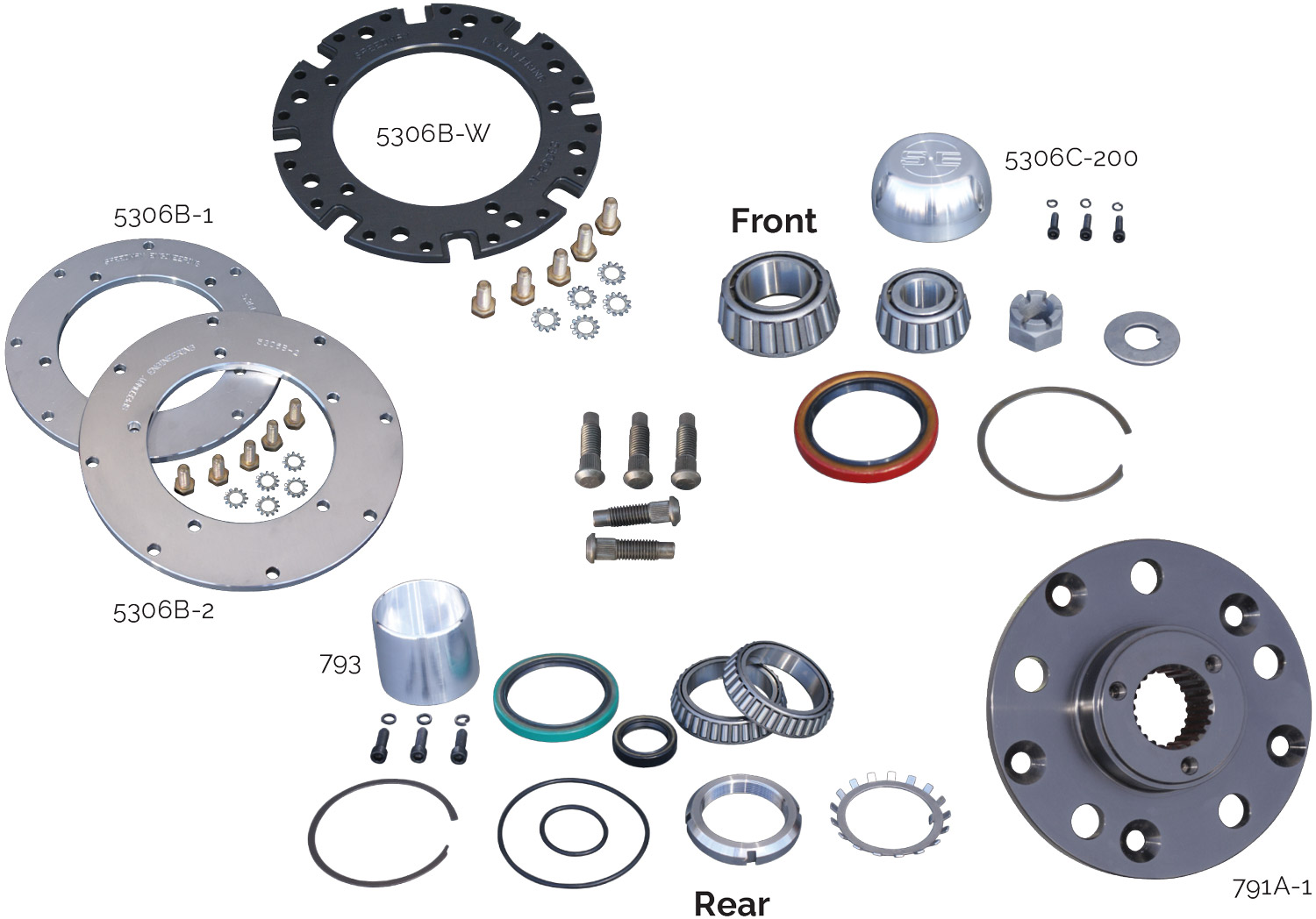 Grand National Aluminum Hub Parts