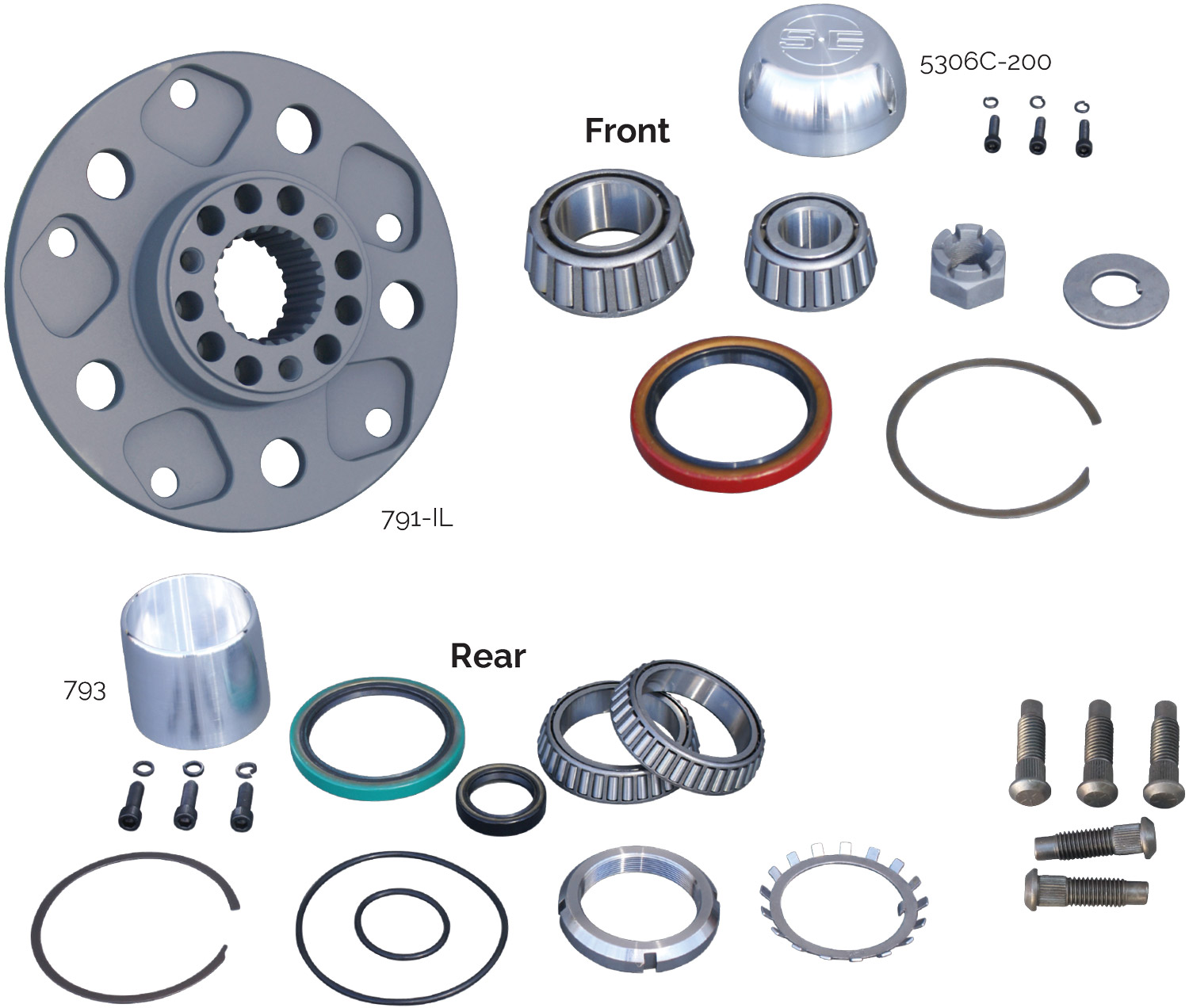 Grand National Steel Hub Parts